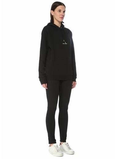 Saint Laurent Saint Laurent  Kapüşonlu Logo Detaylı Sweatshirt 101624703 Siyah